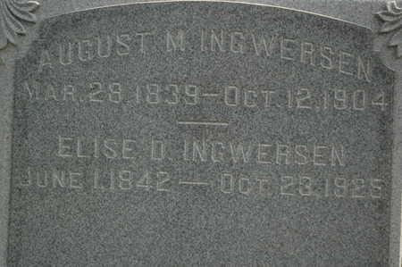 INGWERSEN, AUGUST M. - Clinton County, Iowa | AUGUST M. INGWERSEN