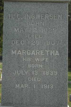 INGWERSEN, MARGARETHA - Clinton County, Iowa | MARGARETHA INGWERSEN