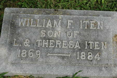 ITEN, WILLIAM F. - Clinton County, Iowa | WILLIAM F. ITEN