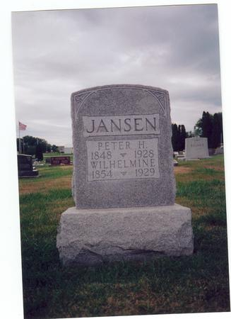 JANSEN, PETER H. - Clinton County, Iowa | PETER H. JANSEN