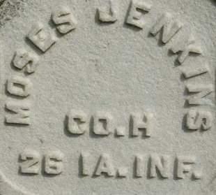 JENKINS, MOSES - Clinton County, Iowa | MOSES JENKINS