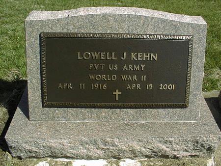 KEHN, LOWELL J. - Clinton County, Iowa | LOWELL J. KEHN