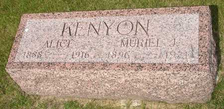 KENYON, ALICE - Clinton County, Iowa | ALICE KENYON