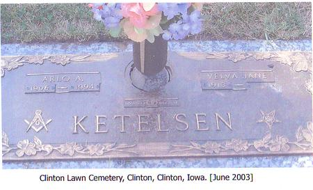 KETELSEN, VELVA JANE - Clinton County, Iowa | VELVA JANE KETELSEN
