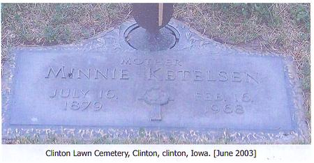 KETELSEN, MINNIE - Clinton County, Iowa | MINNIE KETELSEN