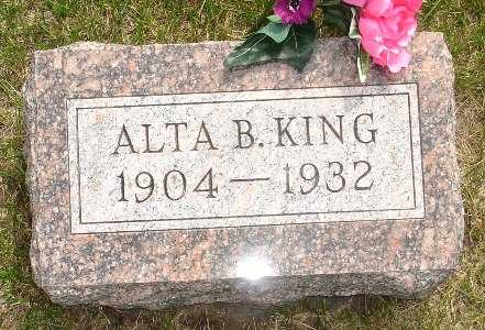 KING, ALTA B. - Clinton County, Iowa   ALTA B. KING