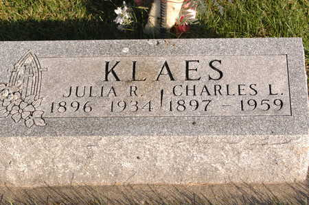 KLAES, JULIA R. - Clinton County, Iowa | JULIA R. KLAES