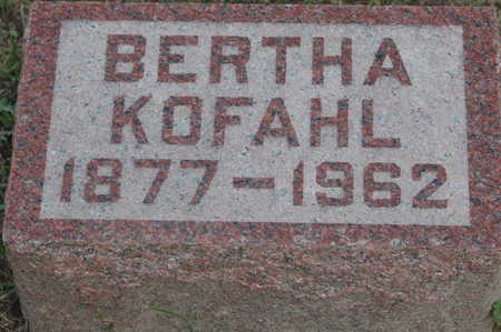 KOFAHL, BERTHA - Clinton County, Iowa | BERTHA KOFAHL