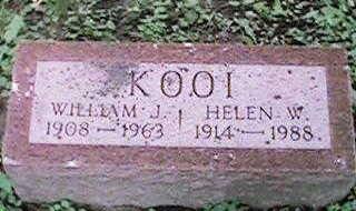 KOOI, HELEN W - Clinton County, Iowa | HELEN W KOOI