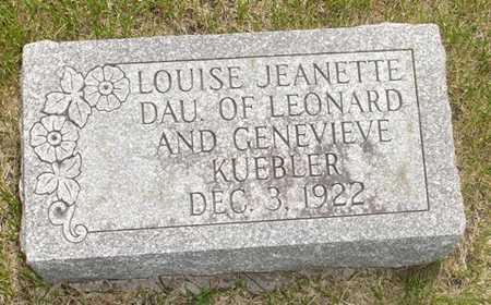 KUEBLER, LOUISE JEANETTE - Clinton County, Iowa | LOUISE JEANETTE KUEBLER