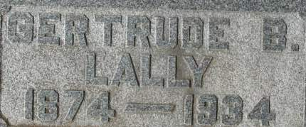 LALLY, GERTRUDE B. - Clinton County, Iowa | GERTRUDE B. LALLY