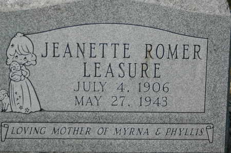 ROMER LEASURE, JEANETTE - Clinton County, Iowa | JEANETTE ROMER LEASURE