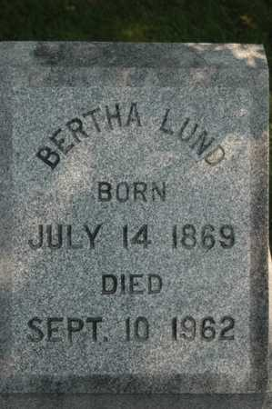 LUND, BERTHA - Clinton County, Iowa | BERTHA LUND