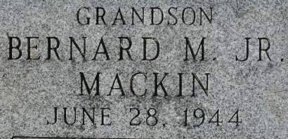 MACKIN, BERNARD M JR - Clinton County, Iowa   BERNARD M JR MACKIN