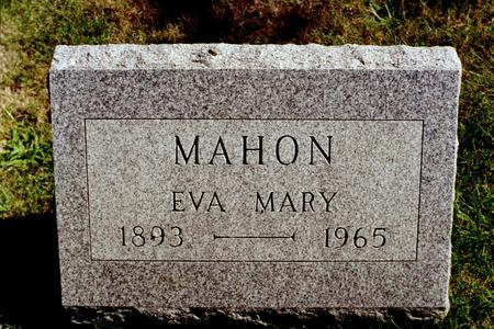 MAHON, EVA MARY - Clinton County, Iowa | EVA MARY MAHON
