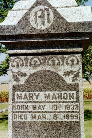MAHON, MARY - Clinton County, Iowa | MARY MAHON