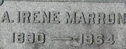 MARRON, A. IRENE - Clinton County, Iowa | A. IRENE MARRON