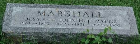 MARSHALL, JESSIE, JAMES, MATTIE - Clinton County, Iowa   JESSIE, JAMES, MATTIE MARSHALL