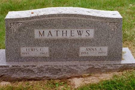 MATHEWS, LEWIS C. & ANNA A. - Clinton County, Iowa | LEWIS C. & ANNA A. MATHEWS