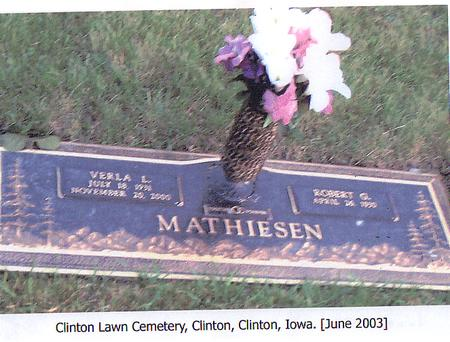 MATHIESEN, ROBERT G. - Clinton County, Iowa | ROBERT G. MATHIESEN