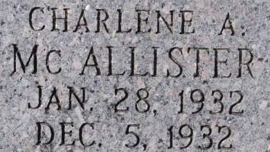 MCALLISTER, CHARLENE A. - Clinton County, Iowa   CHARLENE A. MCALLISTER