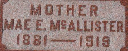 MCALLISTER, MAE E. - Clinton County, Iowa | MAE E. MCALLISTER