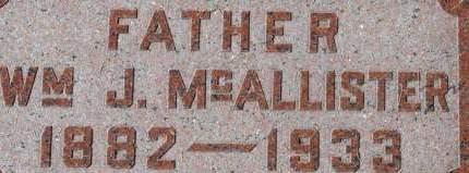 MCALLISTER, WILLIAM J. - Clinton County, Iowa | WILLIAM J. MCALLISTER