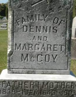 MCCOY, MARGARET - Clinton County, Iowa   MARGARET MCCOY