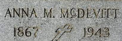 MCDEVITT, ANNA M. - Clinton County, Iowa   ANNA M. MCDEVITT