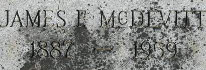 MCDEVITT, JAMES F. - Clinton County, Iowa   JAMES F. MCDEVITT