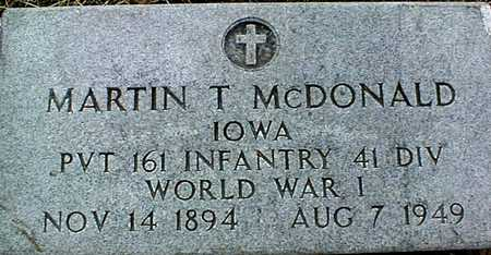 MCDONALD, MARTIN T. - Clinton County, Iowa | MARTIN T. MCDONALD