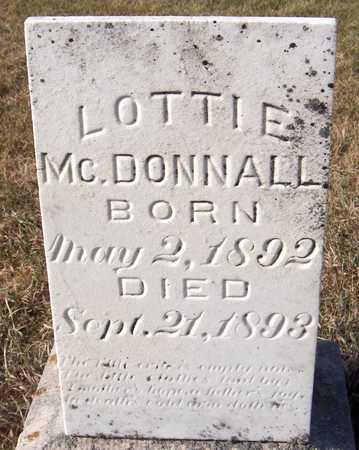 MCDONNALL, LOTTIE - Clinton County, Iowa   LOTTIE MCDONNALL