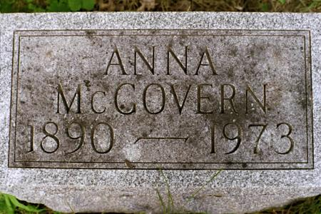MCGOVERN, ANNA - Clinton County, Iowa | ANNA MCGOVERN