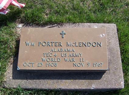 MCLENDON, WILLIAM PORTER - Clinton County, Iowa   WILLIAM PORTER MCLENDON