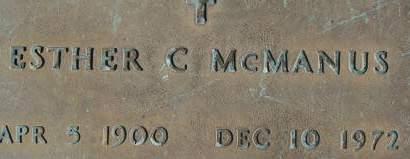 MCMANUS, ESTHER C. - Clinton County, Iowa | ESTHER C. MCMANUS