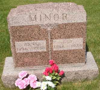 MINOR, ANNA - Clinton County, Iowa | ANNA MINOR