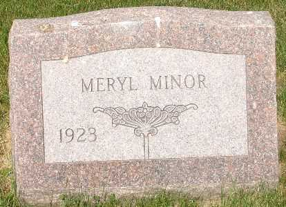 MINOR, MERYL - Clinton County, Iowa | MERYL MINOR