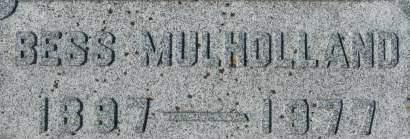 MULHOLLAND, BESS - Clinton County, Iowa   BESS MULHOLLAND
