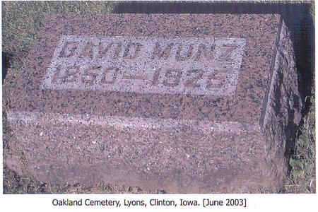 MUNZ, DAVID - Clinton County, Iowa | DAVID MUNZ