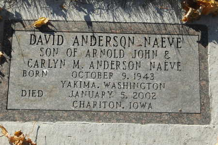 NAEVE, DAVID ANDERSON - Clinton County, Iowa | DAVID ANDERSON NAEVE