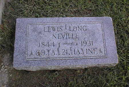 NEVILLE, LEWIS LONG - Clinton County, Iowa | LEWIS LONG NEVILLE