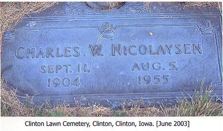 NICOLAYSEN, CHARLES W. - Clinton County, Iowa | CHARLES W. NICOLAYSEN