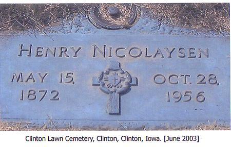 NICOLAYSEN, HENRY - Clinton County, Iowa | HENRY NICOLAYSEN