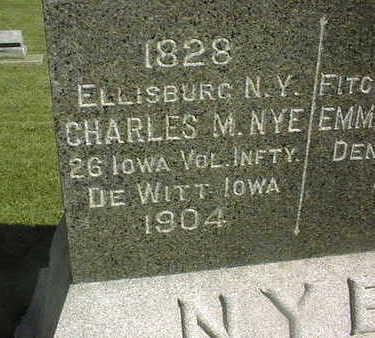 NYE, CHARLES M. - Clinton County, Iowa | CHARLES M. NYE