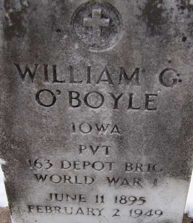 O'BOYLE, PVT. WILLIAM G. - Clinton County, Iowa | PVT. WILLIAM G. O'BOYLE