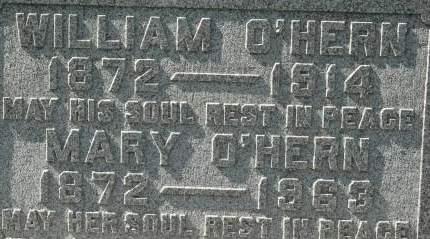 O'HERN, MARY - Clinton County, Iowa   MARY O'HERN