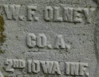 OLNEY, W.F. - Clinton County, Iowa | W.F. OLNEY