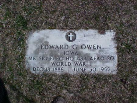 OWEN, EDWARD G. - Clinton County, Iowa | EDWARD G. OWEN