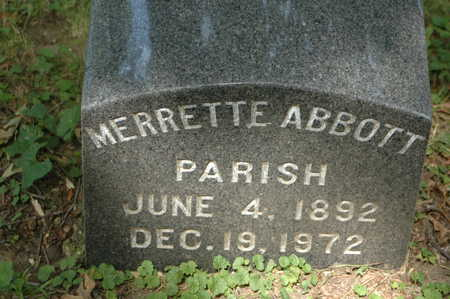 ABBOTT PARISH, MERRETTE - Clinton County, Iowa | MERRETTE ABBOTT PARISH