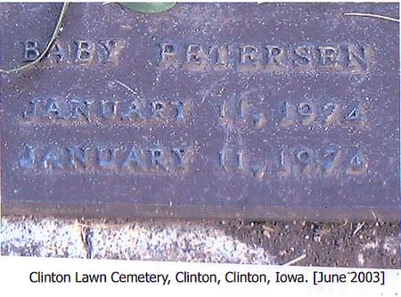 PETERSEN, BABY - Clinton County, Iowa | BABY PETERSEN